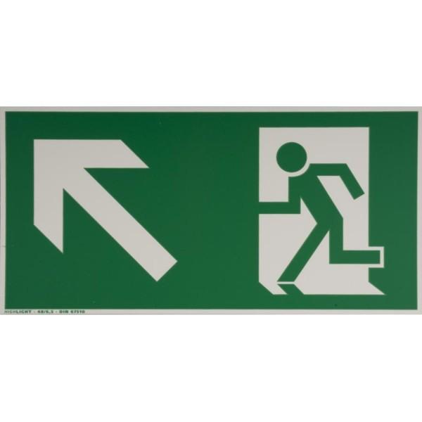 smartboxpro Hinweisschild ´Rettungsweg links´, aufwärts