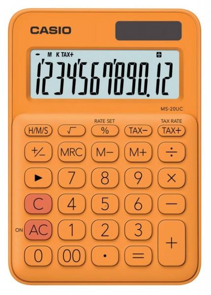CASIO Tischrechner MS-20UC-RG, orange