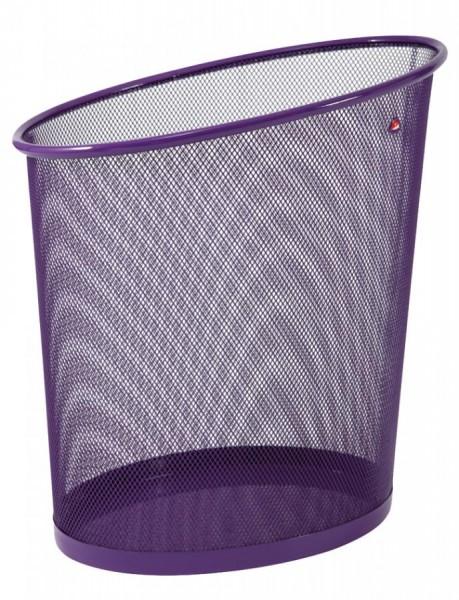 ALBA Papierkorb ´MESHCORB´, aus Drahtmetall, 18L, pflaume