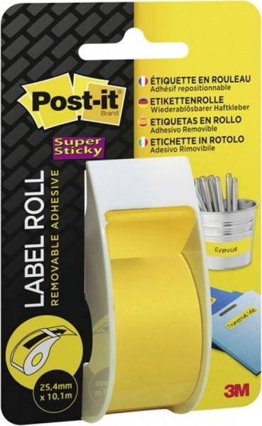 3M Post-it Super Sticky Haftnotizen-Rolle, gelb