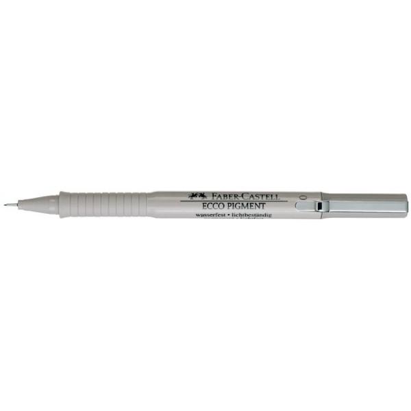 FABER-CASTELL Pigmentliner ECCO PIGMENT 0,1 mm, schwarz