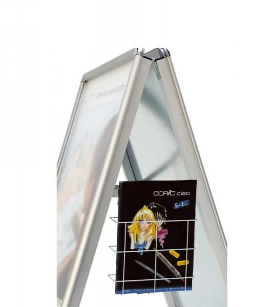 magnetoplan Plakatständer SP A2, silber/silber eloxiert