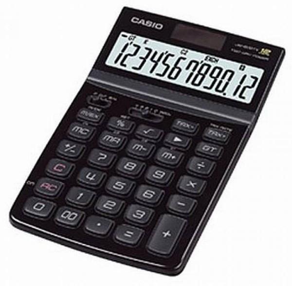 Casio JW-200TV-BK schw. Tischrechner 12-stellig, Solar-u.Batteriebetrieb