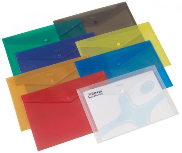 Rexel Dokumententasche Folder, DIN A4, rot-transluzent