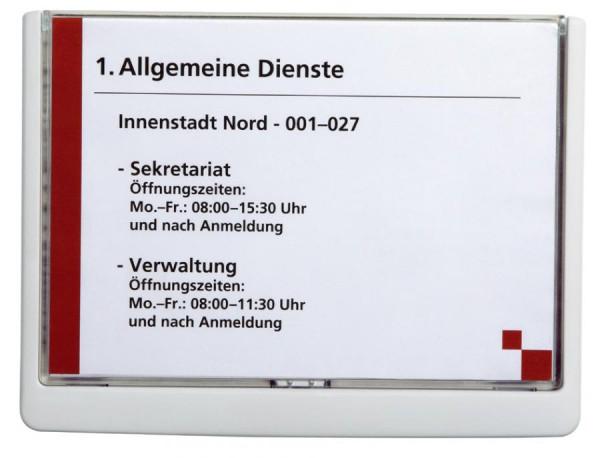 DURABLE Türschild CLICK SIGN, DIN A5, weiß