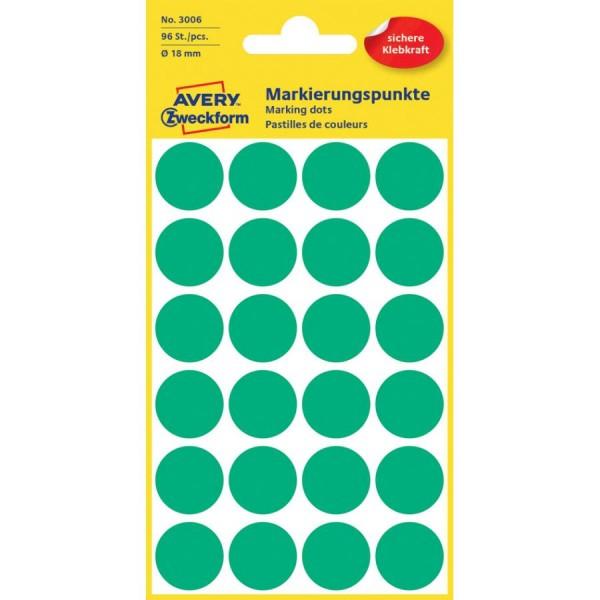 AVERY Zweckform Markierungspunkte, Durchmesser: 18 mm, rosa
