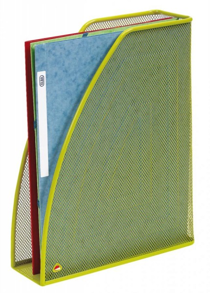ALBA Stehsammler ´MESHMAG´, DIN A4, aus Drahtmetall, grün