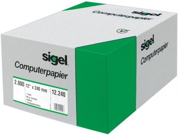 sigel DIN-Computerpapier endlos, 330 mm x 8´ (20,32 cm)