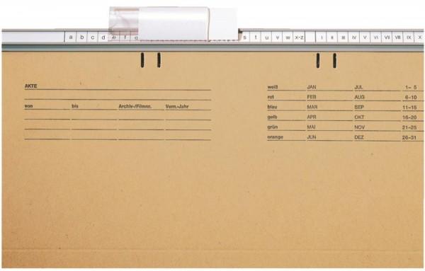 LEITZ Vollsichtreiter, Kunststoff, (B)60 mm, transparent