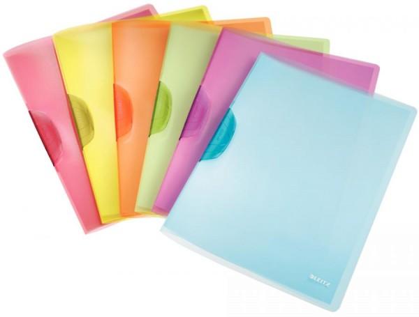 LEITZ Klemmhefter ColorClip Rainbow, DIN A4, PP, sortiert
