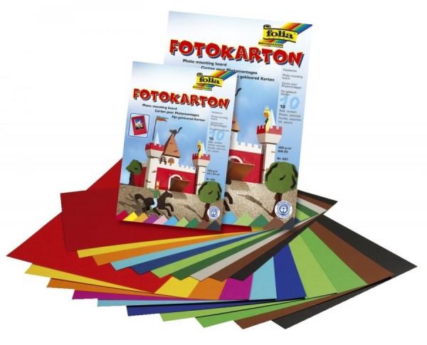 folia Fotokarton, DIN A4, 300 g/qm, farbig sortiert