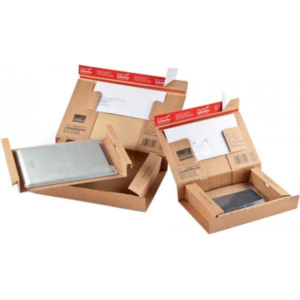 ColomPac Paket-Versandkarton ´POST´, Größe: S, braun