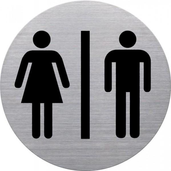 helit Piktogramm ´WC Damen & Herren´, Durchmesser: 115 mm