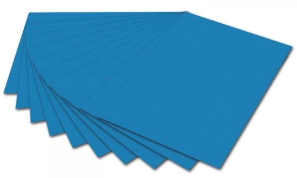 folia Fotokarton, DIN A4, 300 g/qm, mittelblau