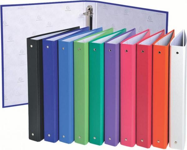 EXACOMPTA Ringbuch, 4 Ring-Mechanik, DIN A4, farbig sortiert