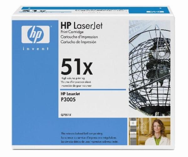 HP HP® Druckkassetten schwarz, 13.000 Seiten, Q7551X
