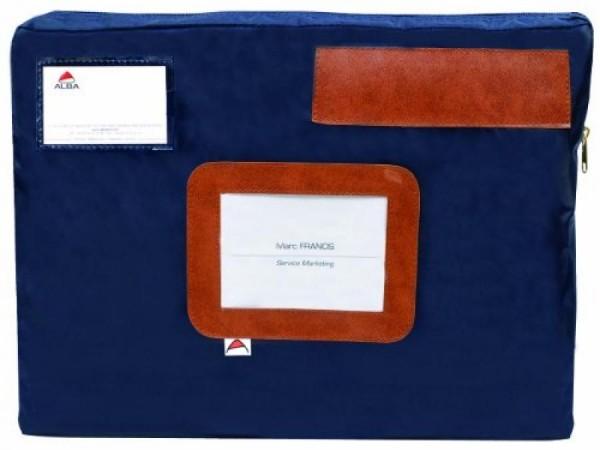 ALBA Banktasche ´POCSOU B´ mit Dehnfalte, aus Nylon, blau