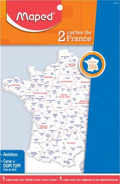 Maped Schablone Frankreich-Landkarte, Inhalt: 2 Stück