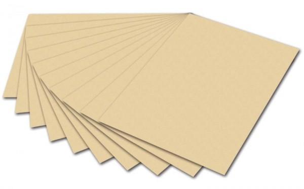 folia Fotokarton, DIN A4, 300 g/qm, chamois