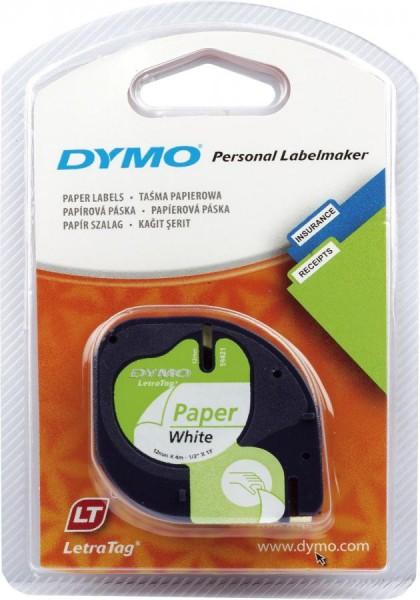 DYMO LetraTag Schriftbandkassette, Papier, 12 mm x 4 m