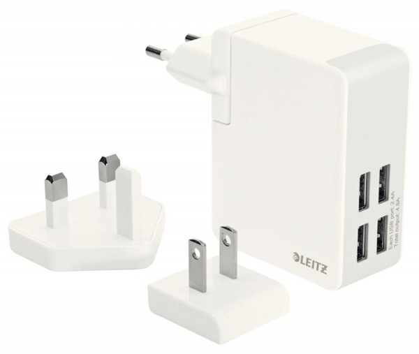 LEITZ Reisestecker-Set Complete Travel Wall Charger, weiß