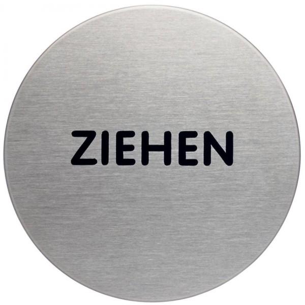 DURABLE Piktogramm ´Ziehen´, Durchmesser: 65 mm, silber