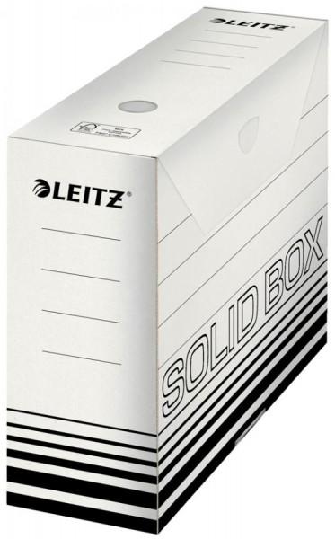 LEITZ Archiv-Schachtel Solid, weiß/schwarz, (B)80 mm