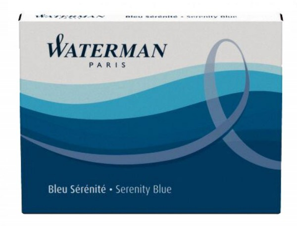 WATERMAN Standard-Großraum-Tintenpatronen, schwarz