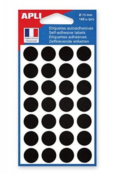 agipa Markierungspunkte, Durchmesser: 15 mm, rund, schwarz