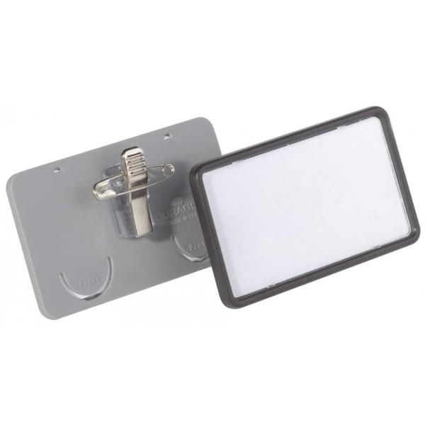 DURABLE Namensschild Clip-Card, mit Kombiklemme, 75 x 40 mm