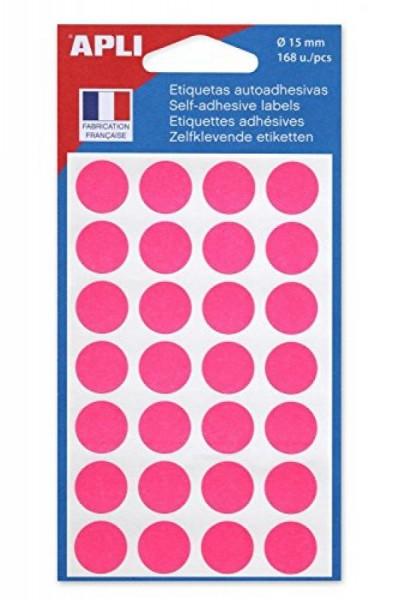 agipa Markierungspunkte, Durchmesser: 15 mm, rund, rosa