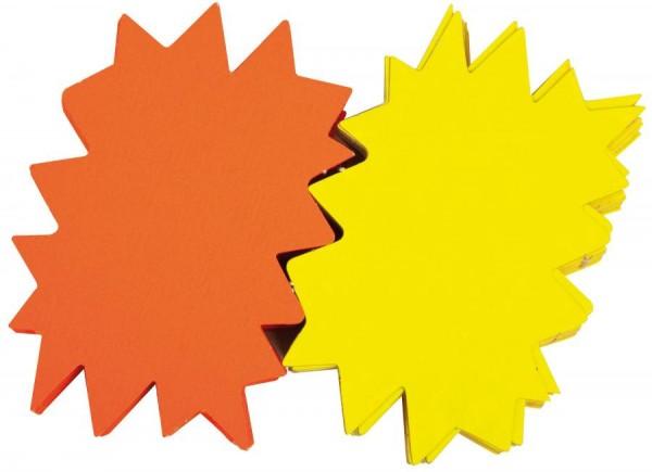 agipa Signal-Etiketten ´Stern´, gelb/orange, 80 x 120 mm