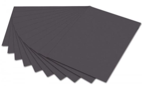 folia Fotokarton, DIN A4, 300 g/qm, anthrazit
