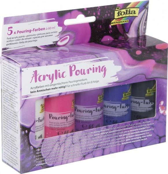 folia Acrylic Pouring-Farbe ´PASTELL´, farbig sortiert