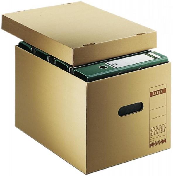 LEITZ Archiv-/Transportbox, aus Wellpappe, natron
