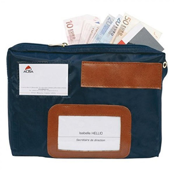 ALBA Banktasche ´POCAIS´ mit Dehnfalte, aus Nylon, blau