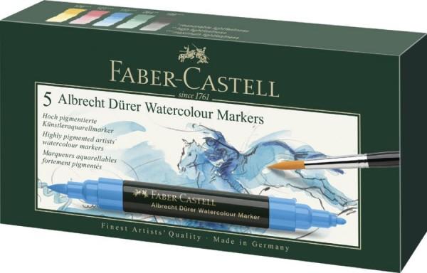 FABER-CASTELL Aquarellmarker ALBRECHT DÜRER, 5er Etui
