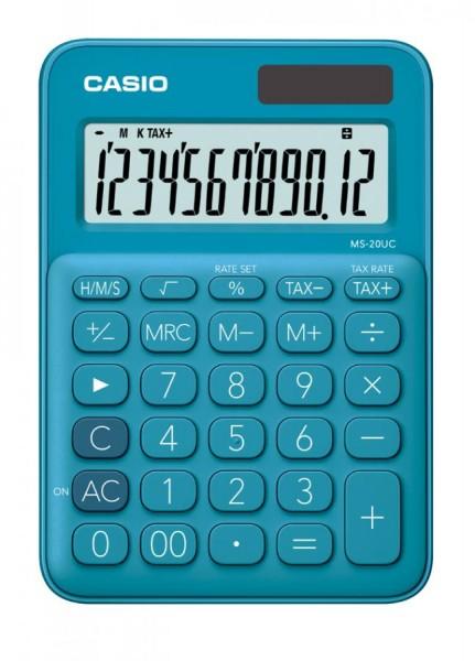CASIO Taschenrechner MS-20UC-BU, blau