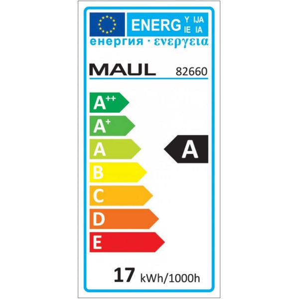 MAUL LED-Lupenleuchte MAULcrystal, Klemmfuß, weiß