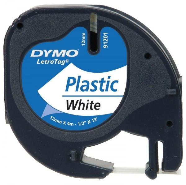 DYMO LetraTag Schriftbandkassette, Kunststoff, 12 mm x 4 m