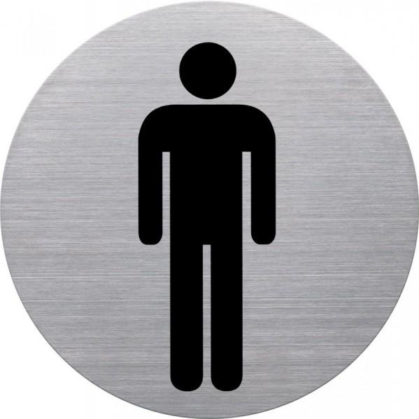 helit Piktogramm ´WC-Herren´, Durchmesser: 115 mm, silber