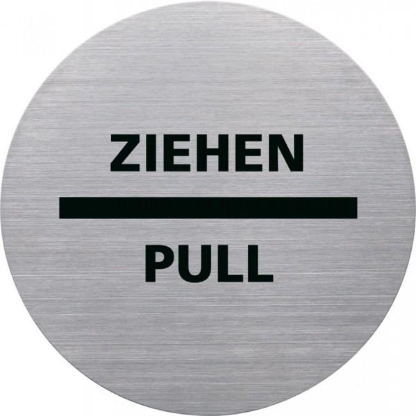 helit Piktogramm ´ZIEHEN/PULL´, Durchmesser: 115 m, silber
