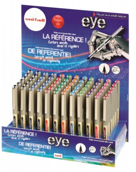 uni-ball Tintenroller eye fine (UB-157), 120er Display