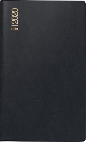 rido idé Taschenkalender ´Miniplaner d12´, 2019, schwarz