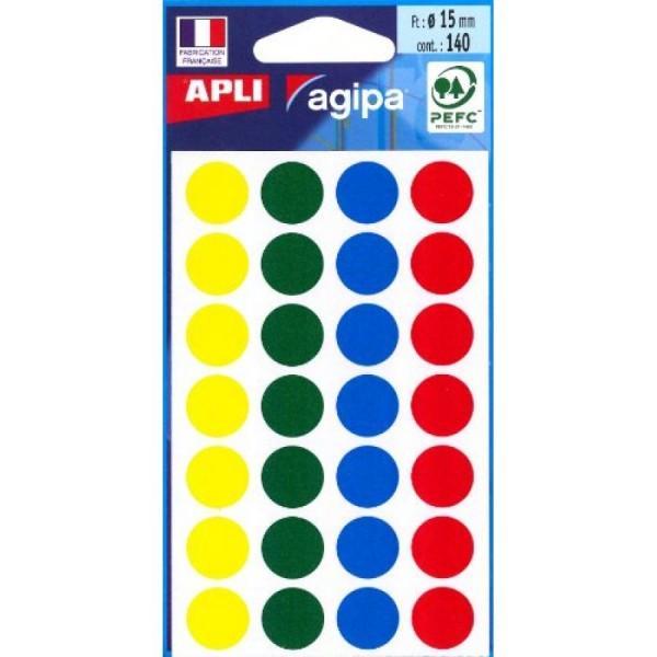 agipa Markierungspunkte, Durchmesser: 15 mm, rund, farbig