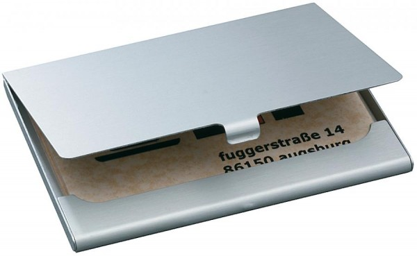 sigel Visitenkarten-Etui ´Alu´, Aluminium, silber, matt