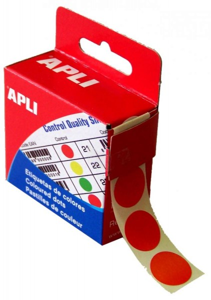 agipa Markierungspunkte, Durchmesser: 15 mm, rund, rot