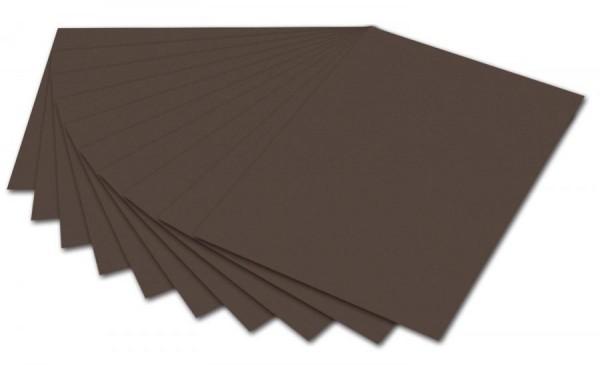 folia Fotokarton, DIN A4, 300 g/qm, dunkelbraun