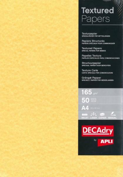 agipa Struktur-Papier, A4, 165 g/qm, Pergament gold