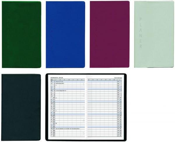 Zettler Taschenkalender 520 - 1 Monat / 2 Seiten, 9,5 x 16 cm, sortiert